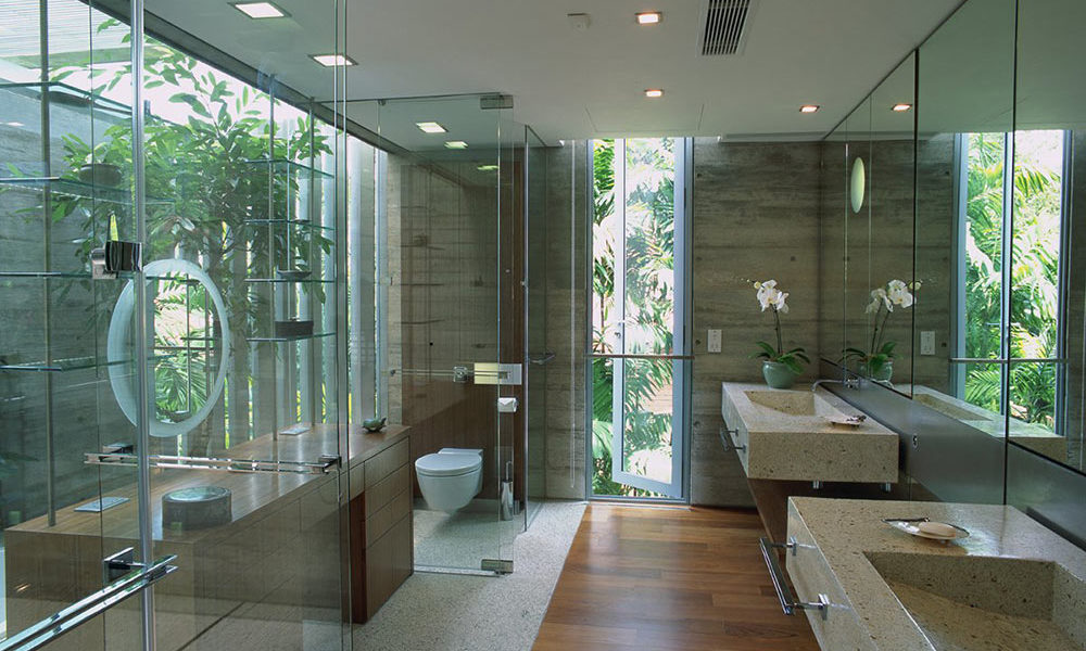 Sunset-Vale-House-Bathroom-Glass-Stone